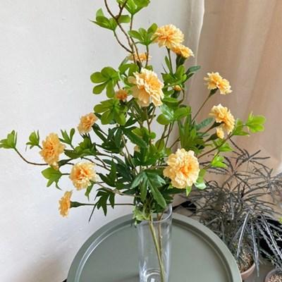 싱그러운 메리골드 & 쟈스민 잎 가지 set