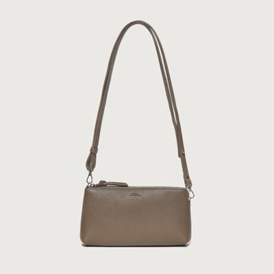 Zipper Mini Bag / Mud beige