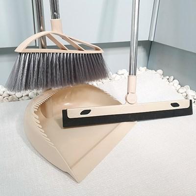 촘촘한 빗자루 거치가능 쓰레받이 다용도 스펀지 와이퍼 세트
