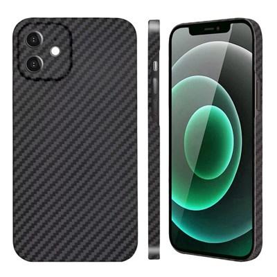 아이폰 12 Mini 페버 카메라 보호 풀 케블라 카본 케이스