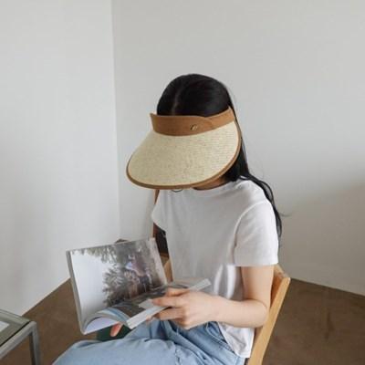 챙넓은 지사 꾸안꾸 데일리 베이지 패션 썬캡 모자