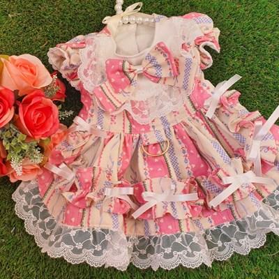 강아지 프로포즈 원피스 - 핑크(봄가을용)