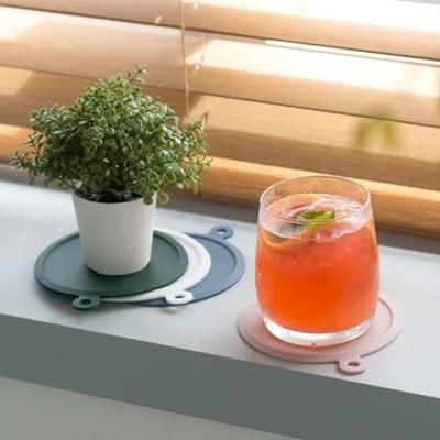 플라이토 실리콘 행잉 원형 컵받침 10cm