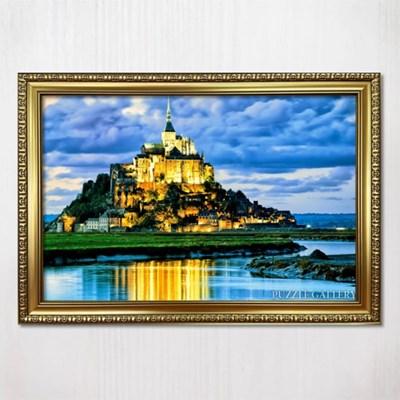 1000피스 직소퍼즐 프랑스 몽생미셸성 댄디골드액자세트