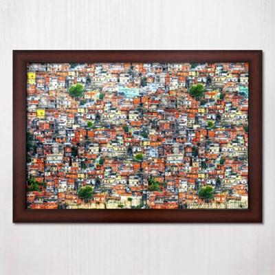 1000피스 직소퍼즐 파벨라의 그림같은 마을 우드브라운