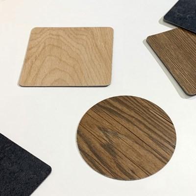 [MAGNET] 로기아 나무 돌 질감 컵받침 코스터 4p_(1325453)