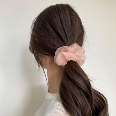[바로배송] 메쉬 곱창머리끈 Lsize 16colors