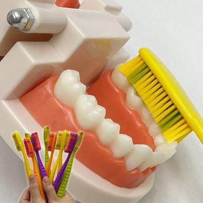1set (색상랜덤 10개) 개운한 솔 넓은 미세모 치아 관리
