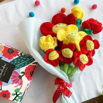 스마일꽃인형 장미꽃인형 8색상 3사이즈