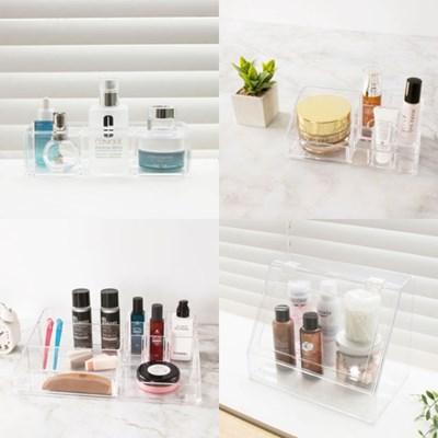 먼지차단 뚜껑있는 투명 화장품 정리함 보관함 화장대 정리대 수납함
