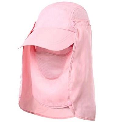 낚시모자 캡모자 사파리 썬캡 등산 농사 여름 햇빛차단 캠핑 핑크