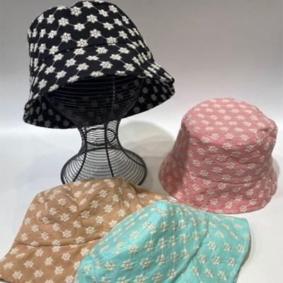 꽃무늬 플라워 깊은 대두 패션 버킷햇 벙거지 모자