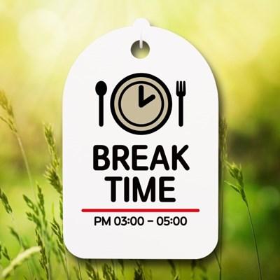 표지판 팻말 푯말 간판 S6_047_BREAK TIME_(1503634)