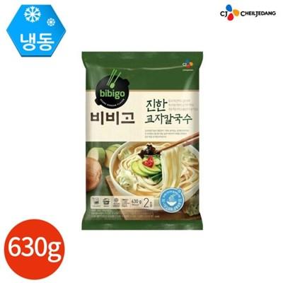 CJ 고메 진한 교자 칼국수 630g x 2봉 (4인분)