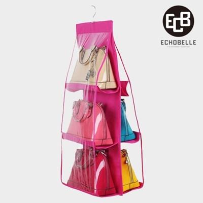 가방 정리함 명품 핸드백 보관함 수납 정리대 가방장 핑크