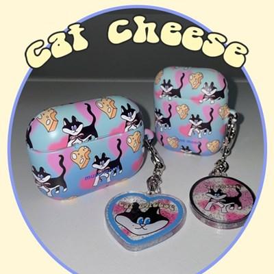[뮤즈무드] cat cheese airpods case (하드에어팟케이스)