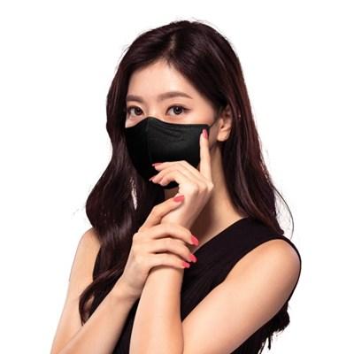 국산 KFAD 퓨올 비말차단 마스크 블랙 대형_B 100매