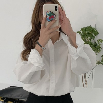 겟잇미 가티 베이직 카라넥 루즈핏 셔츠