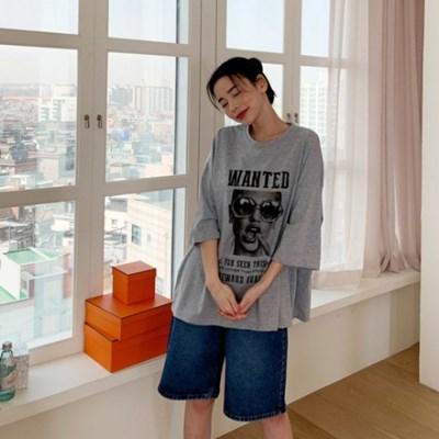 겟잇미 로아 편한 면 여성 나염 반팔 티셔츠