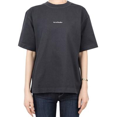 21SS 아크네 로고 티셔츠 오버핏 (여성/블랙) AL0149 BLACK