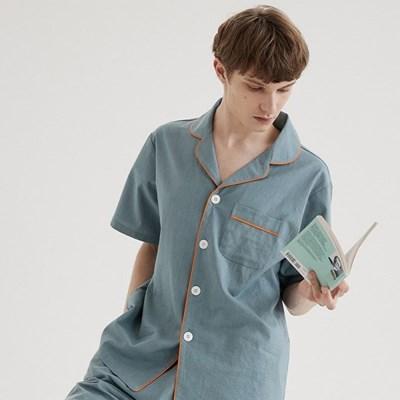 (m) Turkish Blue Short Pajama Set