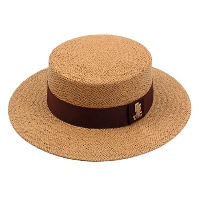 Brown Line Brown Panama Hat 여름페도라