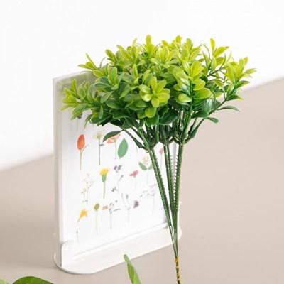 그린잎픽(6개입) 23cm 조화 녹색식물 데코 FAIBFT