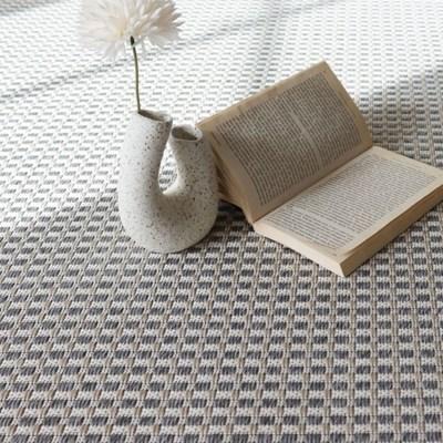 먼지없는 평직 러그 카페트 100x150 (3color)