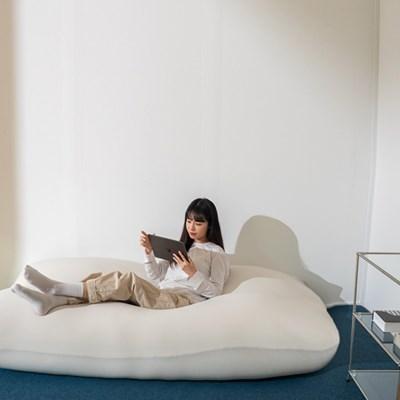 침대, 소파를 하나로 왕쿠션 빈백