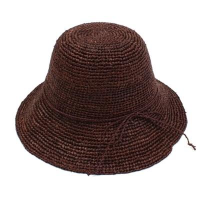 Dark Brown Back Ribbon Summer Cloche Hat 클로슈햇