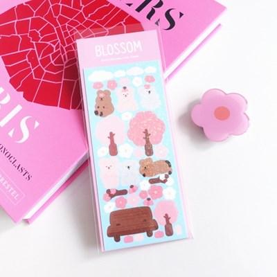 오까까 벚꽃 블러썸 홀로그램 스티커