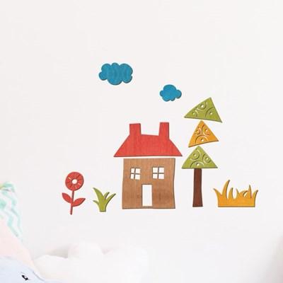 우드아트꾸미기 - 집 (W598) 컬러링 색칠공부