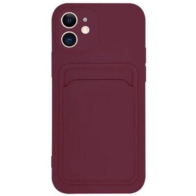 아이폰12 컬러 카드 포켓 커버 젤리 케이스 P574_(3828525)