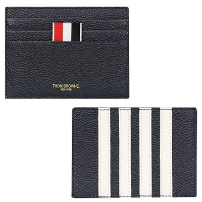 21SS 톰브라운 페블그레인 사선 카드지갑 (네이비) MAW220A 00198 41