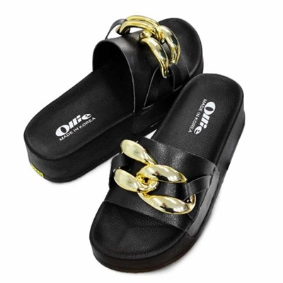 kami et muse Volume chain tall up slippers_KM21s128