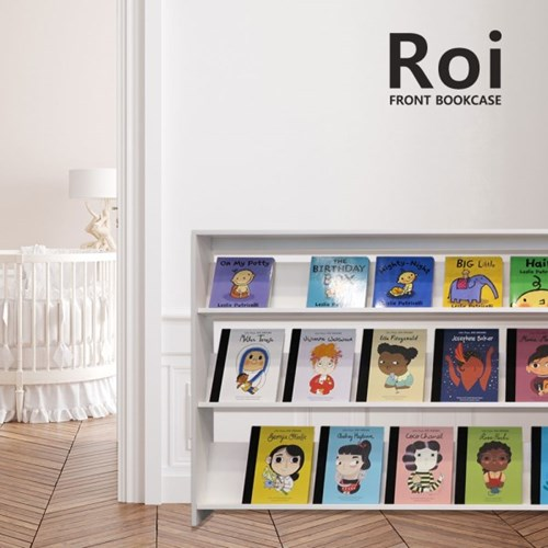 [꼬메모이] 로이 전면책장 1600 / 자작나무 학습 책장 책꽂이