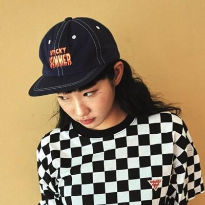 [프리키쉬빌딩] STICKY SUMMER FLAT CAP ㅡ NAVY