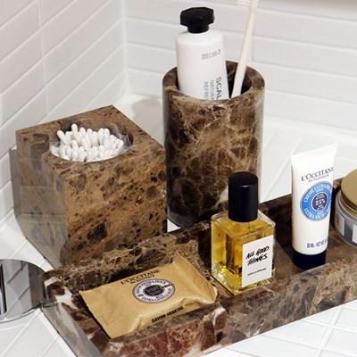 브라운 대리석 욕실용품 고급스러운 호텔스타일
