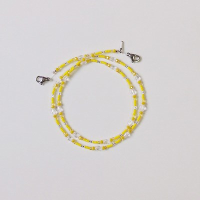 lemon_mask_neck 레몬 비즈(마스크)목걸이