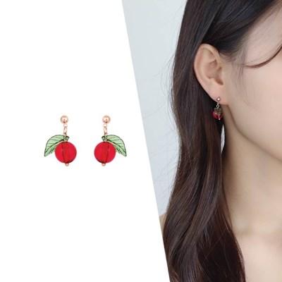 [라이트썸머] 체리 한 알 미니 비즈 귀걸이_레드(AGIE0518HBPD)