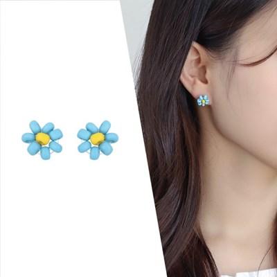 [라이트썸머] 미니 비즈 플라워 귀걸이_블루(AGIS0517HBJL)