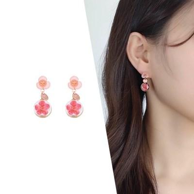[라이트썸머] 블루밍 크리스탈 귀걸이_핑크(AGID0407HBPP)