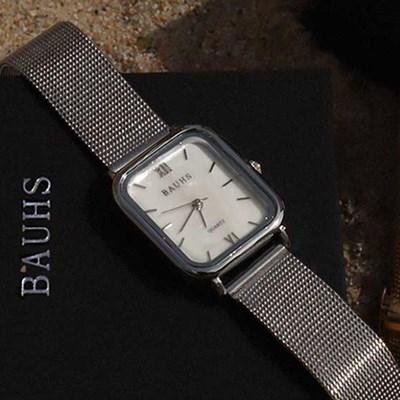 20대 여성 패션 손목시계 자개 메쉬 시계 하버 실버_(512879)