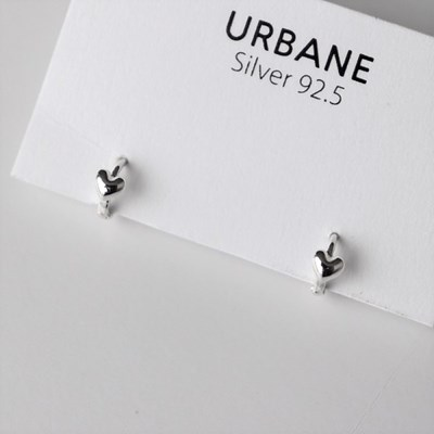 [Silver925] Second heart earring_(1539359)