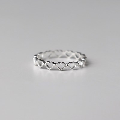 [Silver925] Matt heart ring_(1539360)