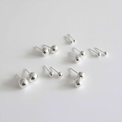 [Silver925] Ball earring_(1539369)