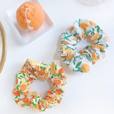 [5개세트] 과일 오렌지 복숭아 딸기 앵두 미니 곱창끈+도넛츠 패키지
