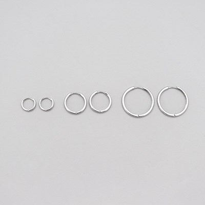 Thin one touch earring_(1538196)