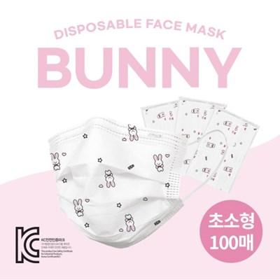 슈라모드_화이트 버니 초소형 마스크 100매 (2매입 개별_(843897)