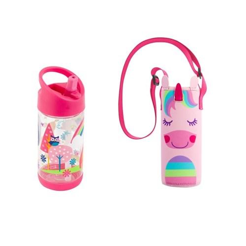어린이집 선물 세트(물병가방+빨대물병) - 우드랜드